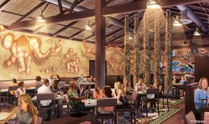 """Tiffins, a new restaurant set to open at Disney's Animal Kingdom in 2016, will celebrate the art of traveling and include waterfront views from both indoor and outdoor seating areas. Open for both lunch and dinner, Tiffins' menu will feature a diverse menu drawing from places that inspired the creation of Disney's Animal Kingdom. The Indian English word """"tiffin"""" means a midday meal or type of container used to carry food while traveling. (Disney Parks)"""
