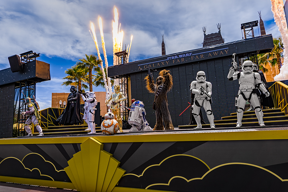 a Stage Full of Star Wars Characters