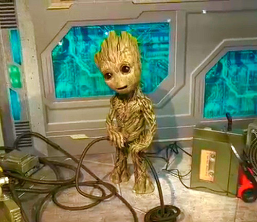Meet Star-Lord and Baby Groot at Disney's Hollywood Studios